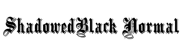 ShadowedBlack Normal  Free Fonts Download