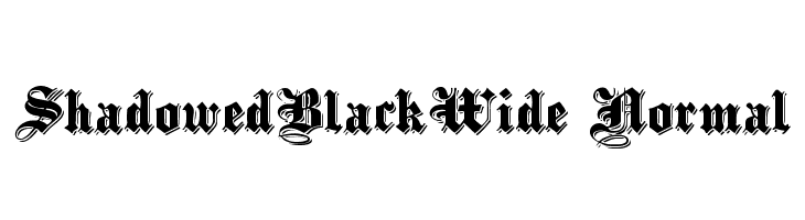 ShadowedBlackWide Normal  Free Fonts Download