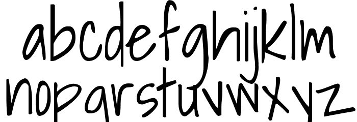 Shadows Into Light Font LOWERCASE