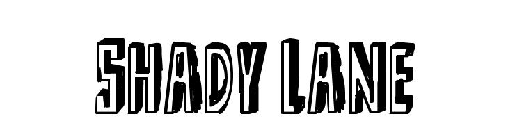 Shady Lane Font