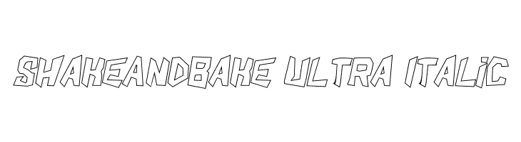 ShakeAndBake Ultra Italic  Free Fonts Download