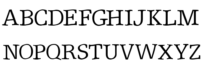 ShakeySlabserif Font UPPERCASE