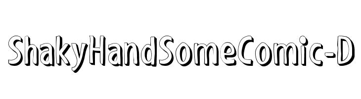 ShakyHandSomeComic-D  Fuentes Gratis Descargar