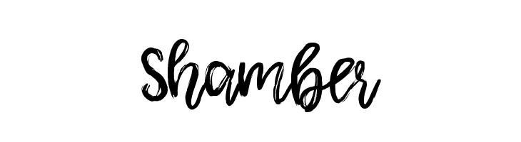 Shamber  नि: शुल्क फ़ॉन्ट्स डाउनलोड
