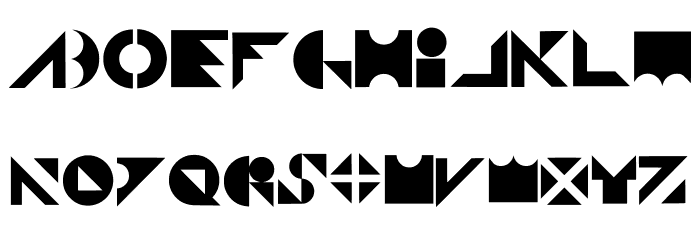 Shapeshifter Regular 字体 大写
