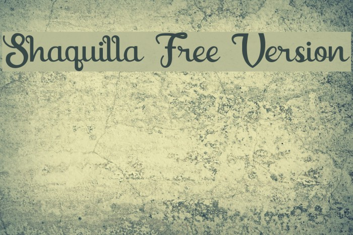 Shaquilla Free Version フォント examples