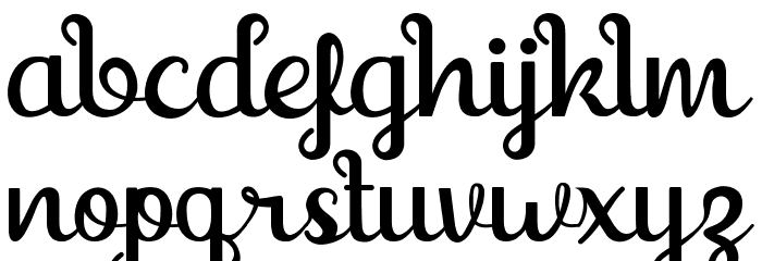 Shaquilla Free Version Font LOWERCASE