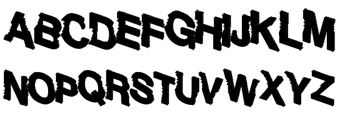 Sharking Font UPPERCASE