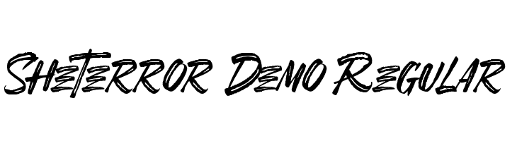 SheTerror Demo Regular  免费字体下载