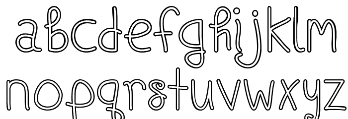 Ships In The Night [Outline]Regular Font UPPERCASE