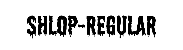 Shlop-Regular  Free Fonts Download