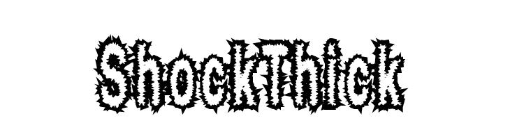 ShockThick  Frei Schriftart Herunterladen
