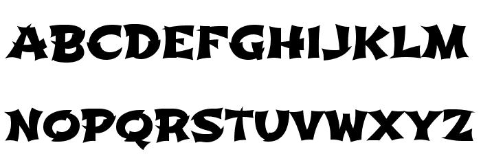Shojumaru Font UPPERCASE