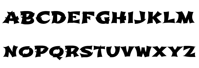Shojumaru Font LOWERCASE