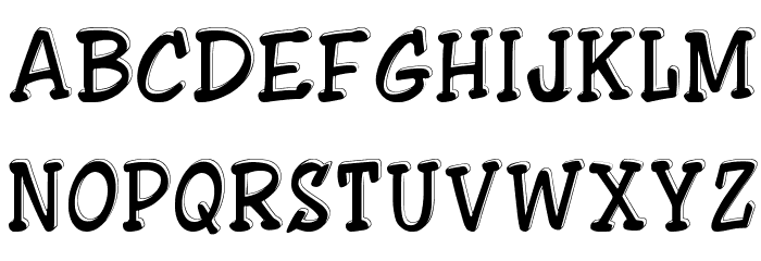 ShowLetters Font UPPERCASE