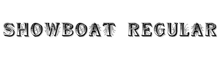 Showboat Regular  नि: शुल्क फ़ॉन्ट्स डाउनलोड
