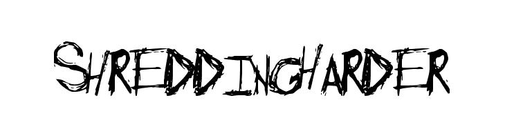 ShreddingHarder Font