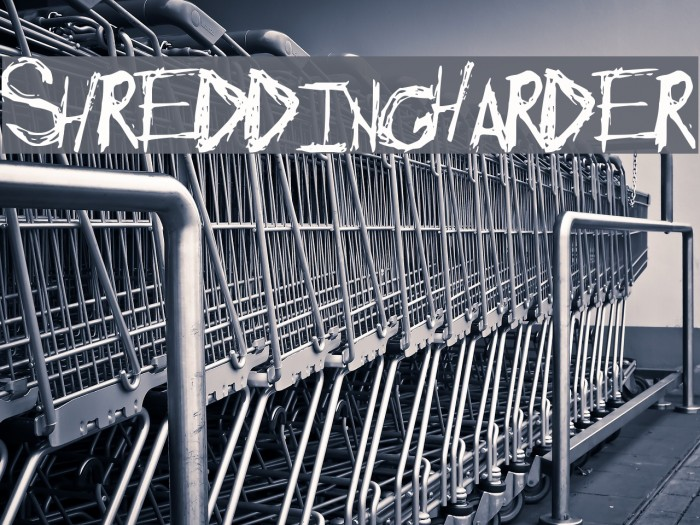 ShreddingHarder Font examples