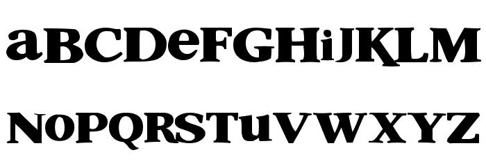 Shrek Font LOWERCASE