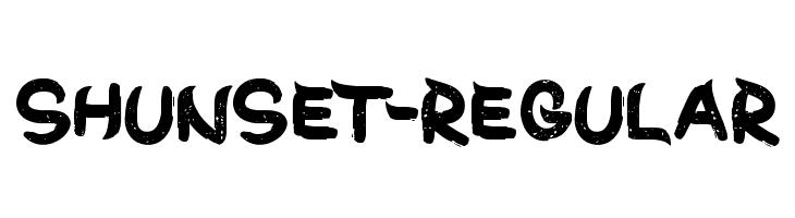 ShunSet-Regular Font