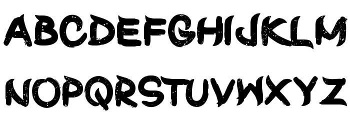 ShunSet-Regular Font UPPERCASE