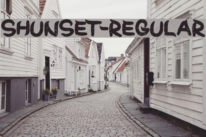 ShunSet-Regular Font examples