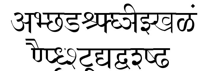 Shusha フォント 大文字
