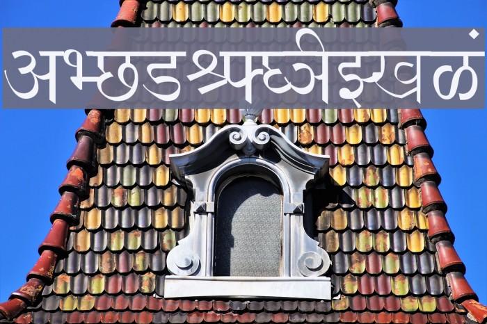 Shusha Font examples