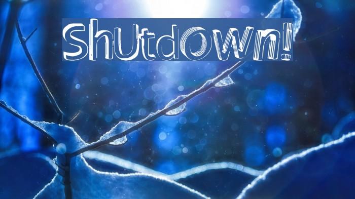 Shutdown! Font examples