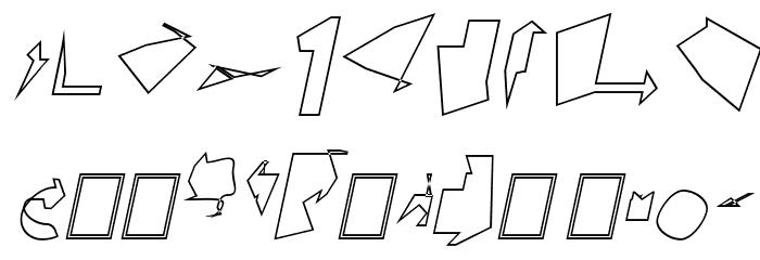 Siberia Wide Outline Oblique Font OTHER CHARS