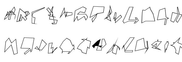 Siberia Wide Outline Oblique Font UPPERCASE