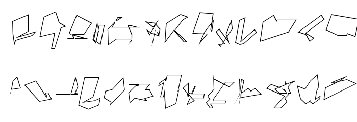Siberia Wide Outline Oblique Font LOWERCASE