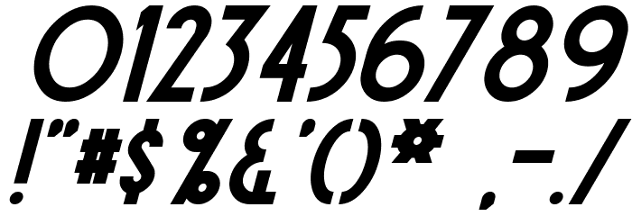 Sierra Madre Bold Italic Fonte OUTROS PERSONAGENS