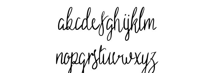 Sild regular 字体 小写
