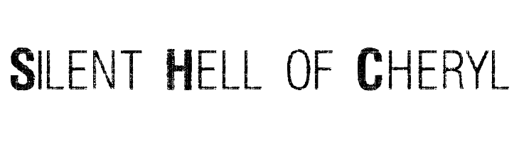Silent Hell of Cheryl  baixar fontes gratis
