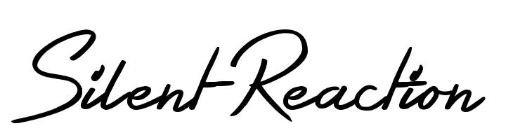 Silent Reaction  font caratteri gratis