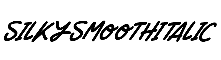 Silky Smooth Italic  Free Fonts Download