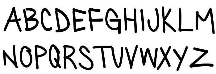 SillyGames-Regular Font Litere mici