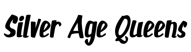 Silver Age Queens  Скачать бесплатные шрифты