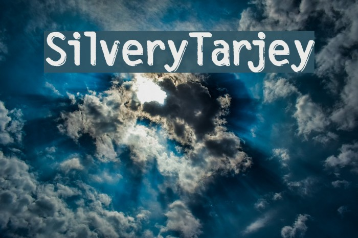 SilveryTarjey फ़ॉन्ट examples