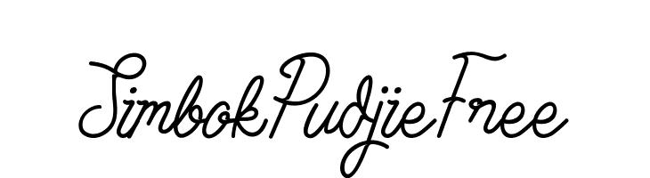 SimbokPudjieFree  フリーフォントのダウンロード