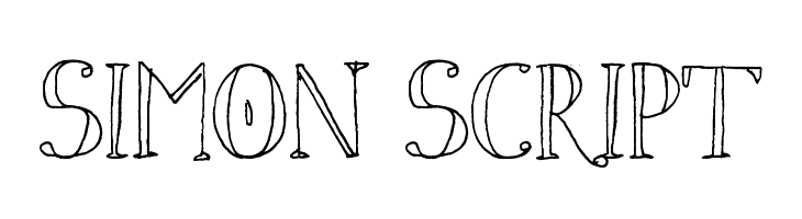 Simon Script  Free Fonts Download