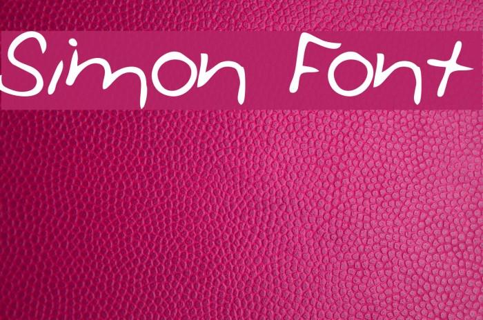 Simon Font examples