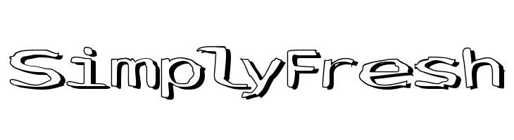 SimplyFresh  font caratteri gratis