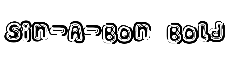 Sin-A-Bon Bold  नि: शुल्क फ़ॉन्ट्स डाउनलोड