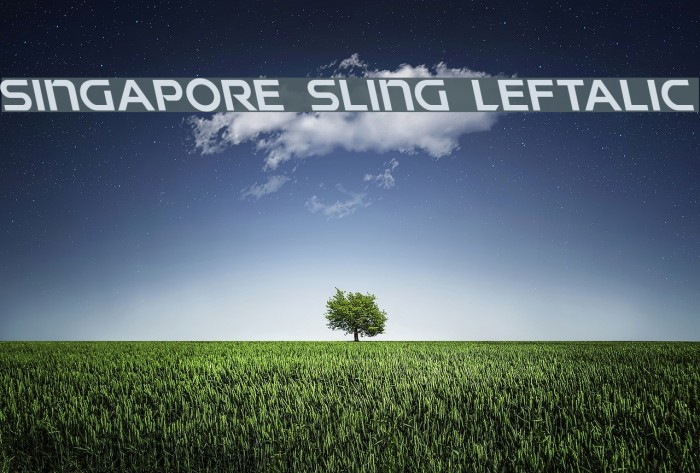 Singapore Sling Leftalic フォント examples