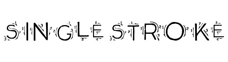 Single Stroke Font - free fonts download