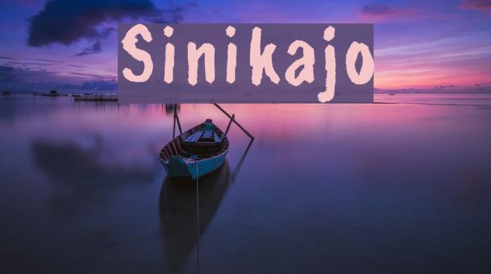 Sinikajo Шрифта examples