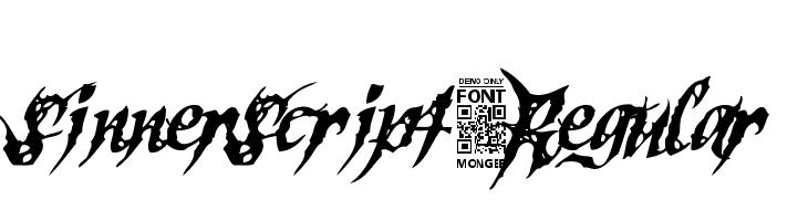 SinnerScript-Regular Schriftart