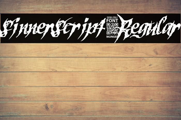SinnerScript-Regular Schriftart examples